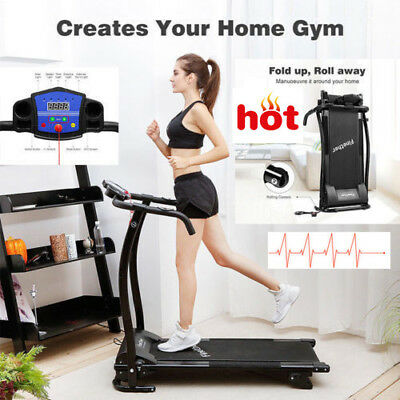 Folding Treadmill Motorized Running Machine Electric Manual Heart Rate Exercise
