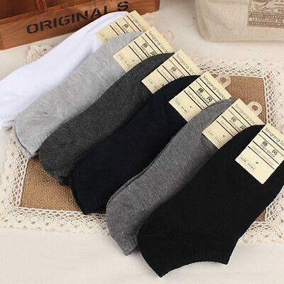 Pairs Men's Hidden Foot Liner Socks No Show Peds Boat Footies Plain Cotton LE11