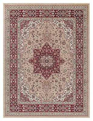 Traditional Persian Vintage Style Runner Rug Small Extra Large Soft Carpet Beige