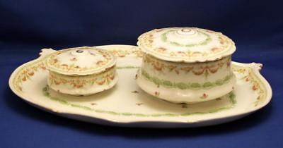A Very Pretty GD&Co Limoges Porcelain Part Dressing Table Set 1902