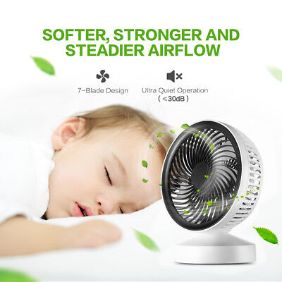Mini USB Rechargeable Portable Desktop Personal Table Fan for Home Office Dorm