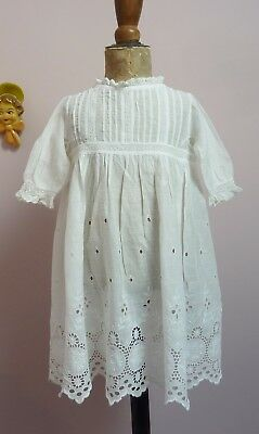 Beautiful Antique/Vintage Baby Dress~Doll or Bear~Sadly Damaged
