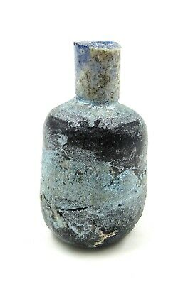 Authentic Ancient Roman Glass Perfume Flask - L42