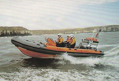 A colour postcard of the Flamborough Lifeboat 'Jason Logg'