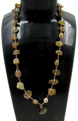 Authentic Ancient Roman Glass Beaded Necklace - E999