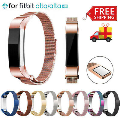 Magnetic Spare Band Stainless Steel Replacement Strap for Fitbit Alta / Alta HR