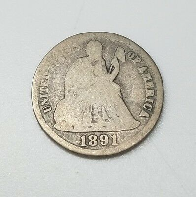 1891-S Seated Liberty Silver Dime