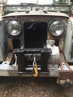 land rover hydraulic winch. complete With pump, controls, oil tank and pipes