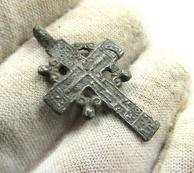 Authentic Medieval / Post Medieval Silver Radiate Cross Pendant - G30