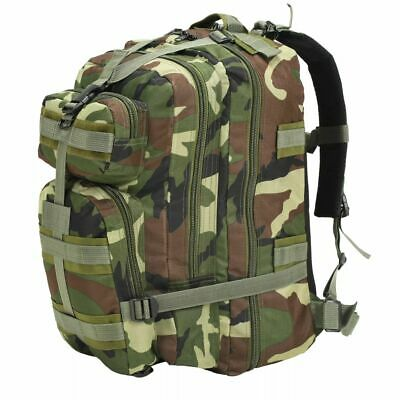 vidaXL Army-Style Backpack 50L Camouflage Rucksack Travel Camping Hiking Bag