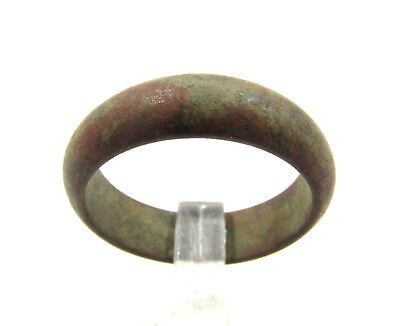 Authentic Late / Post Medieval Bronze Wedding Ring / Band - G34