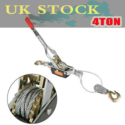 Heavy Duty 4 Ton 2 Hook Cable Puller Hand Winch Turfer For Caravan Boat Trailer