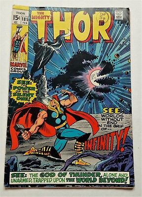 The Mighty Thor # 185 Marvel Comic 1971 Art By John Buscema FN+ 6.5 Stan Lee