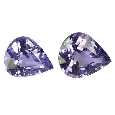 1.72 Ct Matching Pair Best Pear (6 x 5mm) Blue Natural Burma Spinel