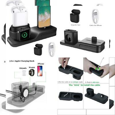 KEHANGDA 3 en 1 Chargeur Stand Docking Station Silicone for iPhone...