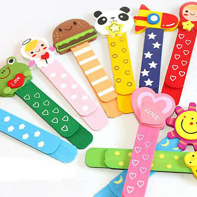 Wooden School Cartoon Bookmark Stationery Random Color Students 2 Pcs Ruler