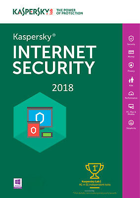 Kaspersky INTERNET Security 2018 1 PC/ 1 Device /1 Year/ FOR - ANDROID 8.45$
