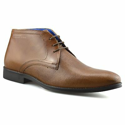 Mens New Leather Smart Casual Chelsea Dealer Formal Work Ankle Boots Shoes Size