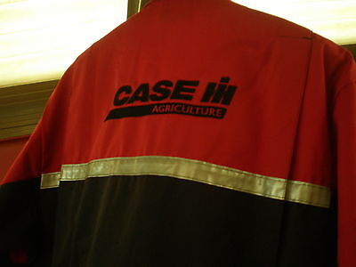 Case IH Tractor Boilersuit Adult's Boiler Suit Overalls Adults - Black With Red