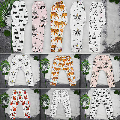 Child Kids Toddler Baby Boy Girls Long Harem Pants Trousers Leggings Bottom 0-4Y