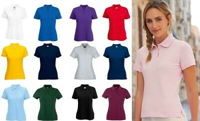 Women's Polo Shirt Premium Polo Ladies Fruit of the Loom Short Sleeve Polo SS505