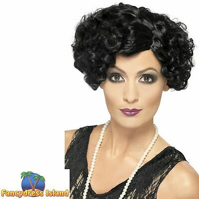 20's Flirty Flapper Curly Short Wig Adult Womens Fancy Dress Costume Accessory