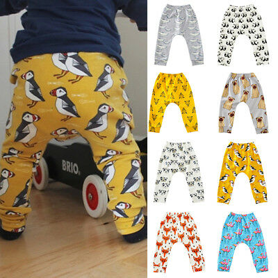 Baby Kids Boys Girls Animals Harem Pants Toddler Cotton Bottom Trousers Leggings