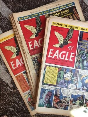 52 x EAGLE  COMPLETE 1955.  Vol 6.  No 1-52. Signed By Frank Hampson !!!