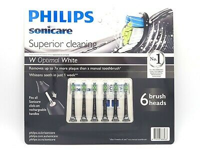 Philips Genuine 6 x Sonicare Diamond Clean Toothbrush Replacement Heads 6 Pack