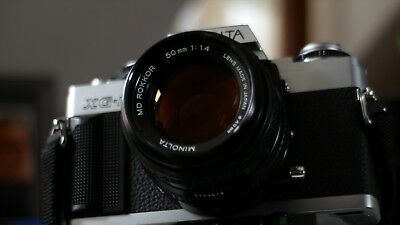 Minolta XG-M 35mm + MD Rokkor 50mm F/1.4 + Vivitar 35mm F/2.8 + Case + Winder