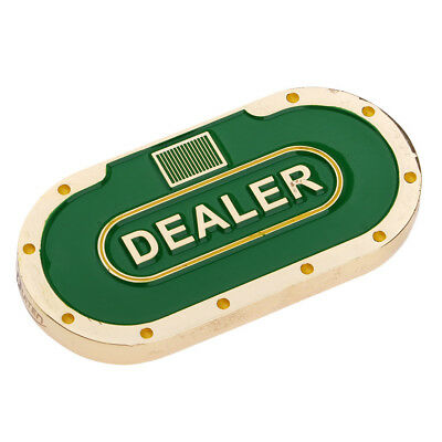 Double-sided Oval Poker Dealer Button Poker Chips Pressing Poker Cards Guard