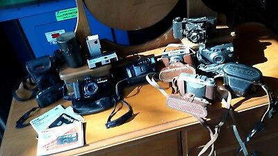 10 vintage cameras & cases books etc $199 CAN POST ANYWHERE