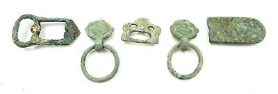 Authentic Lot Of Medieval Bronze Buckles & Fittings  - G52