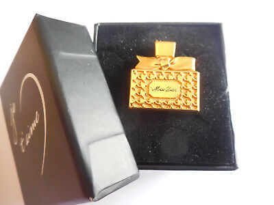 IDEE CADEAU RARE AUTHENTIC VINTAGE MISS DIOR PIN'S signé CHRISTIAN DIOR