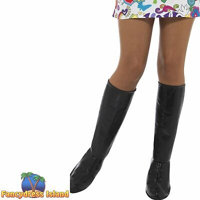 GoGo Boot Covers Hippy Mod 60's Womens Adults Fancy Dress Costume Accessory