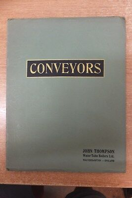 john thompson water tube boilers coal conveyors plant catalogue vintage antique