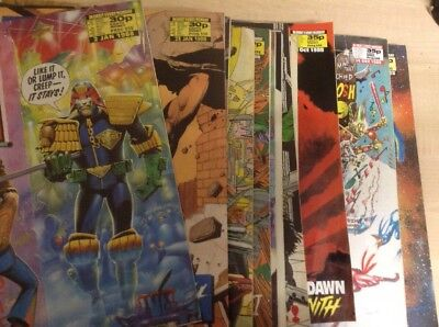 20 Issues Of 2000 AD Featuring Judge Dread Comics 1988
