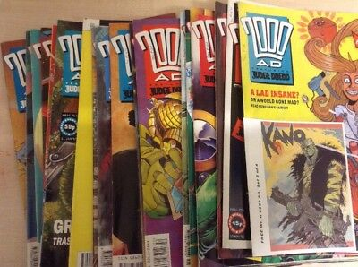 20 Issues Of 2000 AD Featuring Judge Dread Comics 1990-92