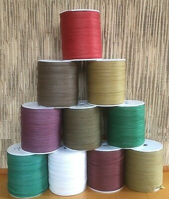 Clearance 10 Reels x 100yd - 1000yds Paper Raffia Autum/Winter (Natural) Colours