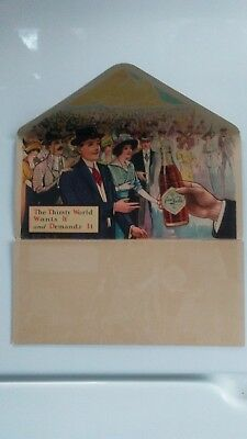 1914 Very Rare Coca Cola Folding Card / Trade Card