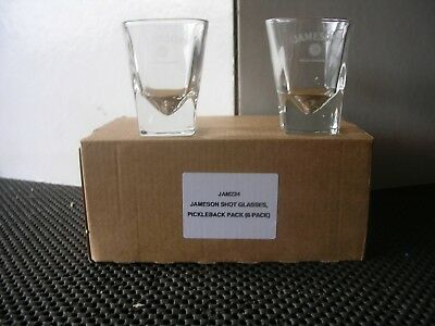 Jameson Irish whiskey WHISKY 6 Verres shot shooter NEUF