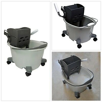 Heavy Duty Plastic Mop Bucket Wringer Home Cleaning Tool Durable Wide 50Gal 20Qt