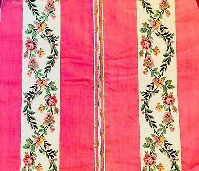 Vintage Floral French Silk 1920
