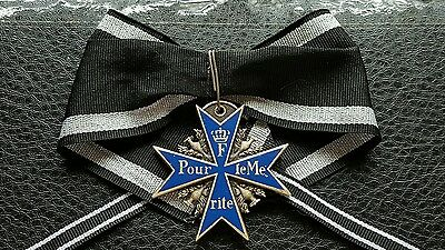 Vintage Collectable Ww2 German Prussian Blue Max Military Award Medal Ribbon