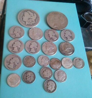 ESTATE Lot of Old US Coins 90% Silver Coins Mixed   ((C26))