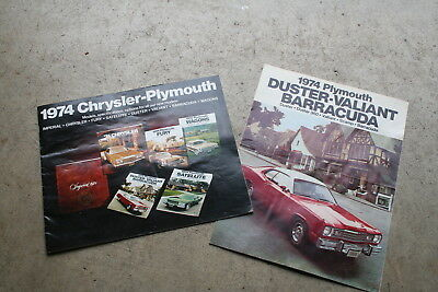 1974 Plymouth Duster Valiant Barracuda Fury Satellite Imperial Wagons Sales Book