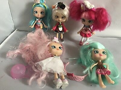 Shopkins Doll Bundle Including  Sara Sushi And Peppa Mint Shoppie And Bride Doll