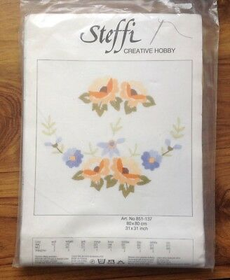 Steffi Embroidery Tablecloth Kit 80 X80 cms Traced Tablecloth Finished Edges