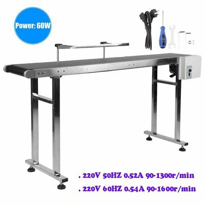 PVC Belt Electric Conveyor Machine With Stainless Steel Double Guardrail Safe MZ