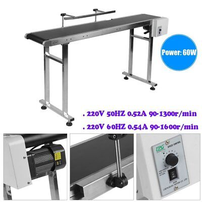 PVC Belt Electric Conveyor Machine With Stainless Steel Double Guardrail Work MZ